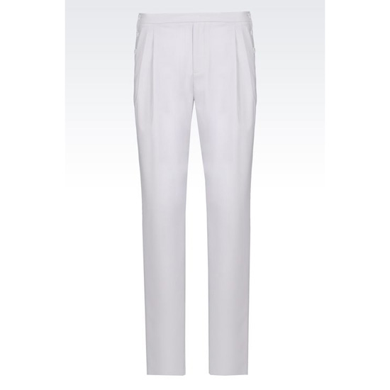 ARMANI VIRGIN WOOL TROUSERS Outlet Online