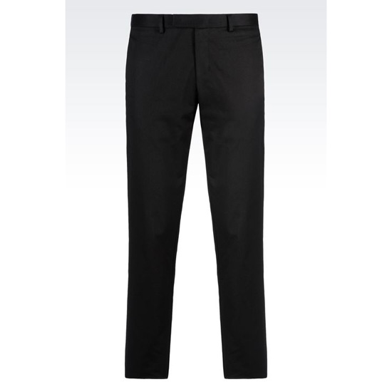 ARMANI STRETCH COTTON TROUSERS Outlet Online