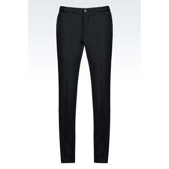 ARMANI RUNWAY TROUSERS IN MICRO-PINSTRIPE WOOL BLEND Outlet Online