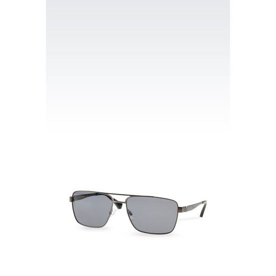 ARMANI METAL SUNGLASSES WITH SQUARE LENSES Outlet Online