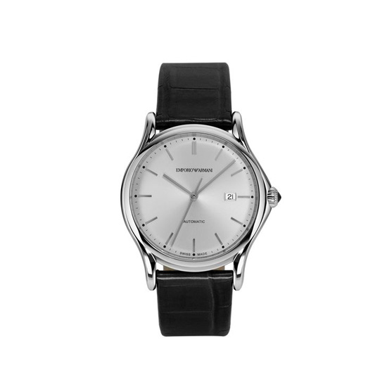 ARMANI SWISS MADE AUTOMATIC WATCH WITH ALLIGATOR STRAP Outlet Online