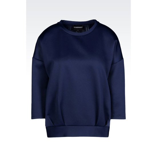 ARMANI TECHNICAL JERSEY SWEATSHIRT WITH PLEATED DETAILING Outlet Online