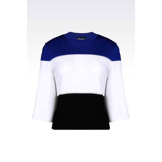 ARMANI RUNWAY SWEATER IN STRIPED VISCOSE Outlet Online