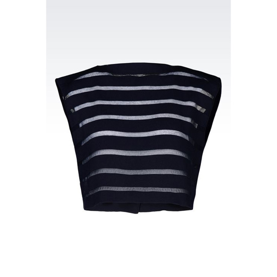 ARMANI RUNWAY TOP IN STRIPED KNIT Outlet Online