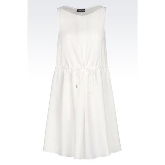 ARMANI TWILL DRESS WITH DRAWSTRING Outlet Online