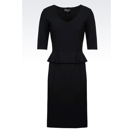 ARMANI DOUBLE SENSITIVE DRESS WITH PEPLUM Outlet Online