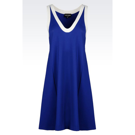 ARMANI DRESS IN STRETCH VISCOSE INTERLOCK Outlet Online