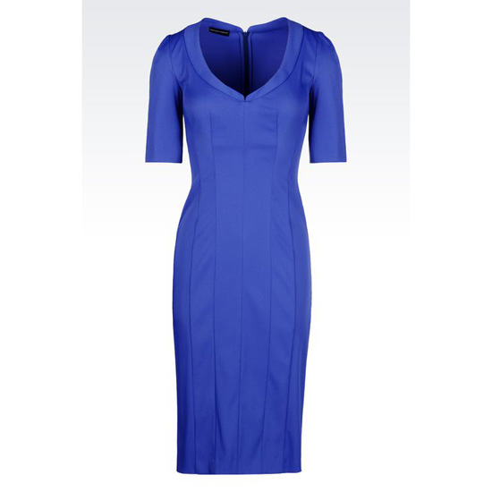 ARMANI TIGHT-FITTING DRESS IN FAILLE Outlet Online