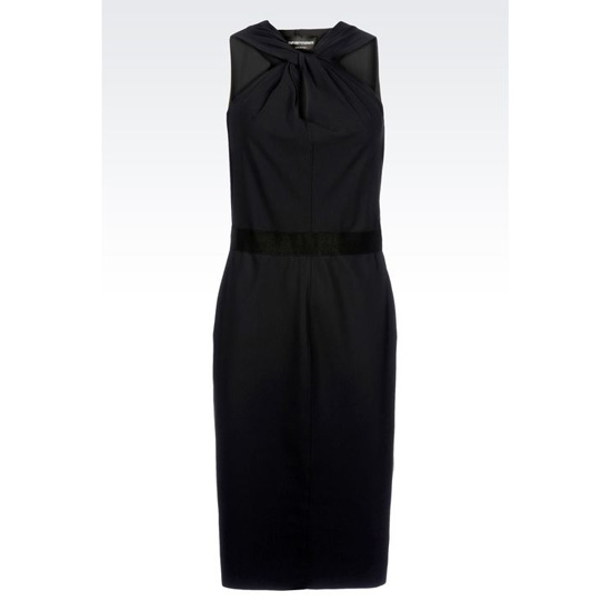 ARMANI DRESS WITH KNOTTED NECKLINE Outlet Online