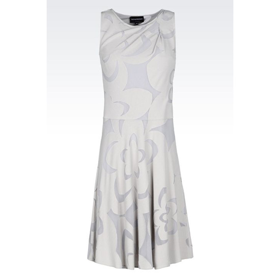 ARMANI DRESS IN BURNT-OUT JACQUARD Outlet Online