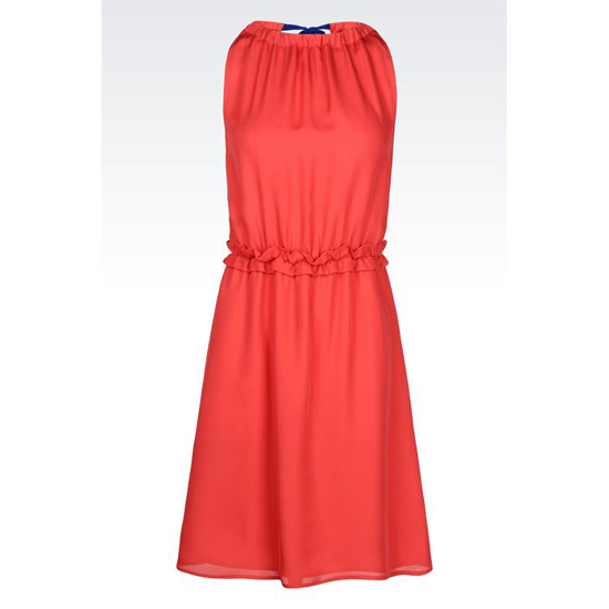 ARMANI DRESS IN SILK CR脢PE DE CHINE Outlet Online