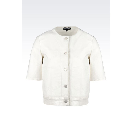 ARMANI REVERSIBLE BLOUSON IN LAMINATED STRETCH TWILL Outlet Online