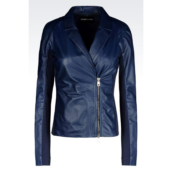 ARMANI DOUBLE-BREASTED JACKET IN NAPA LAMBSKIN Outlet Online