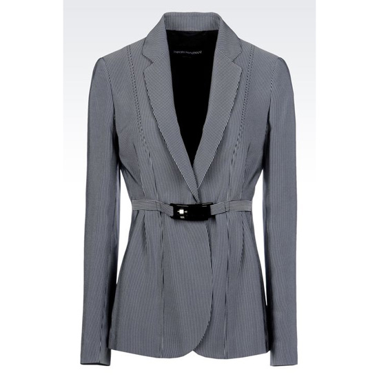 ARMANI JACKET IN MICRO STRIPED CADY Outlet Online