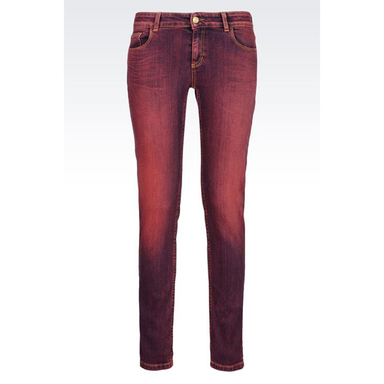 ARMANI SUPER SKINNY USED EFFECT JEANS Outlet Online