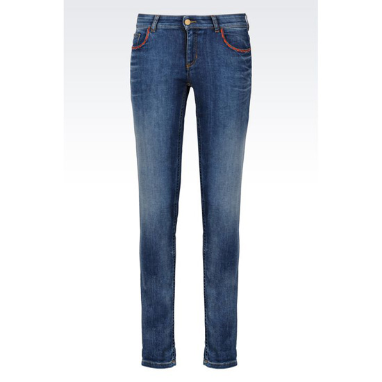 ARMANI SUPER SKINNY MEDIUM WASH JEANS Outlet Online