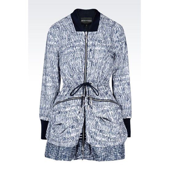 ARMANI REVERSIBLE RAIN COAT IN PRINTED NYLON Outlet Online