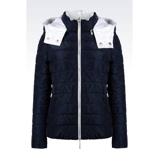 ARMANI REVERSIBLE HOODED DOWN JACKET Outlet Online