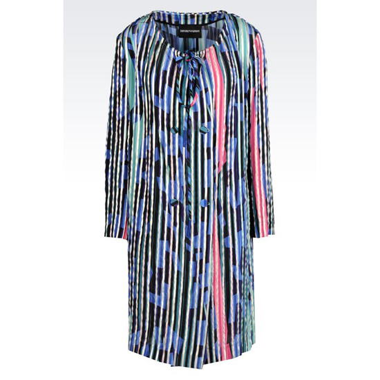 ARMANI RUNWAY COAT IN STRIPED ORGANZA Outlet Online