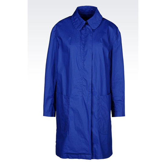 ARMANI COAT IN COTTON BLEND WITH SHIRT COLLAR Outlet Online