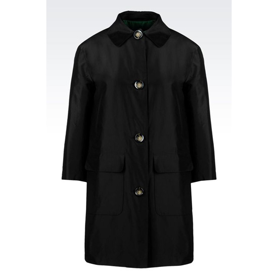 ARMANI COAT IN SILK TAFFETA Outlet Online