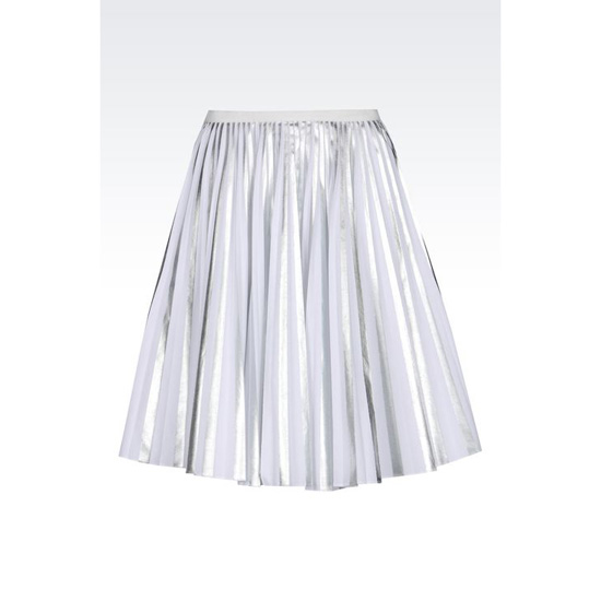 ARMANI PLISS脡 SKIRT IN LAMINATED STRETCH TWILL Outlet Online