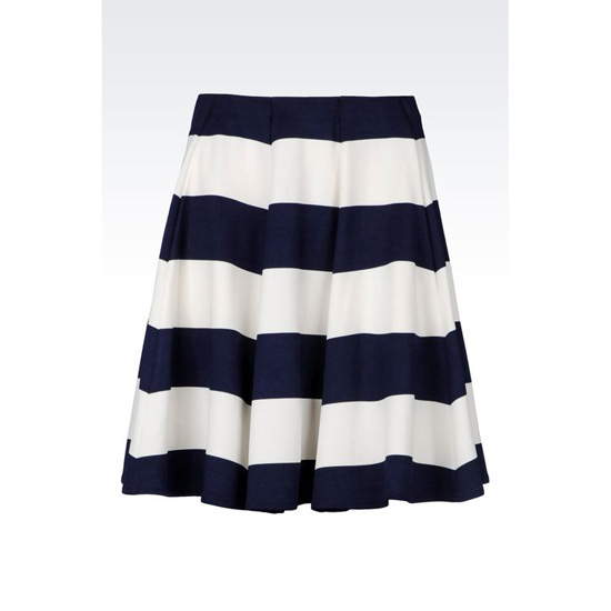ARMANI SKIRT IN STRIPED MILANO RIB Outlet Online