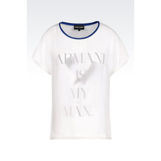 ARMANI T-SHIRT IN PRINTED COTTON Outlet Online