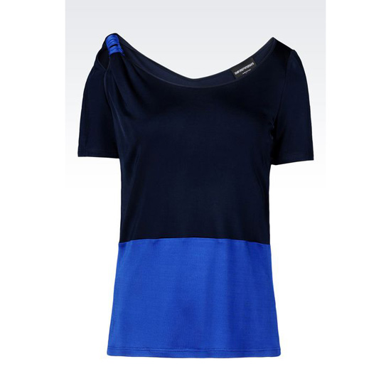 ARMANI T-SHIRT IN VISCOSE INTERLOCK Outlet Online
