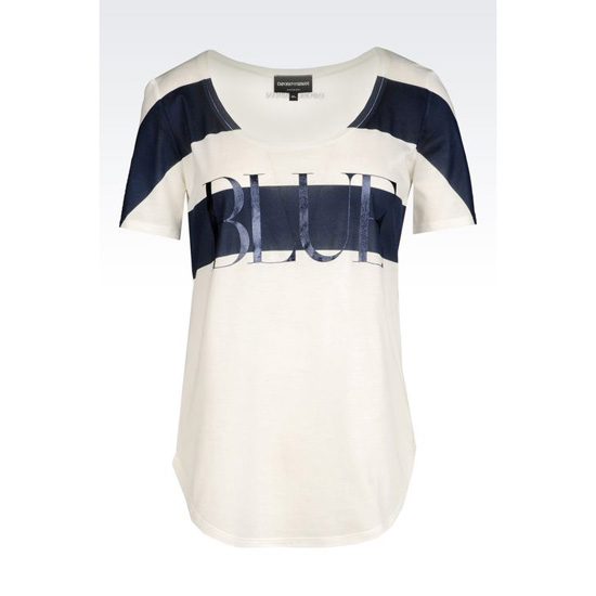 ARMANI T-SHIRT IN COTTON MODAL Outlet Online
