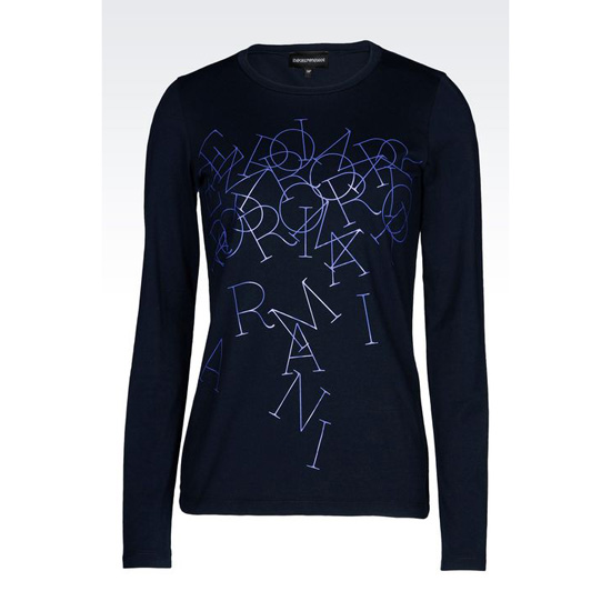 ARMANI T-SHIRT IN PRINTED JERSEY Outlet Online