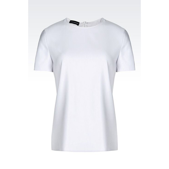 ARMANI TOP IN WOOL AND SILK Outlet Online