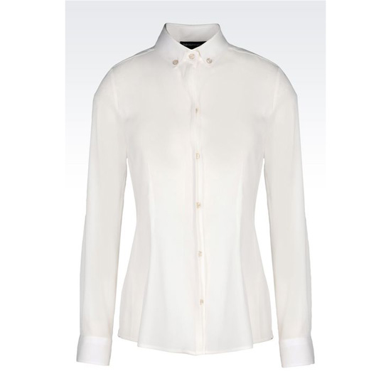 ARMANI BUTTON DOWN SHIRT IN STRETCH GEORGETTE Outlet Online