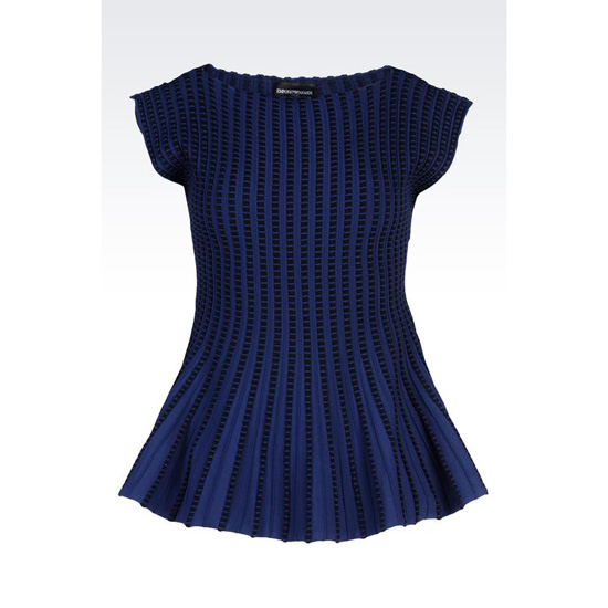 ARMANI PEPLUM SWEATER IN VISCOSE BLEND Outlet Online