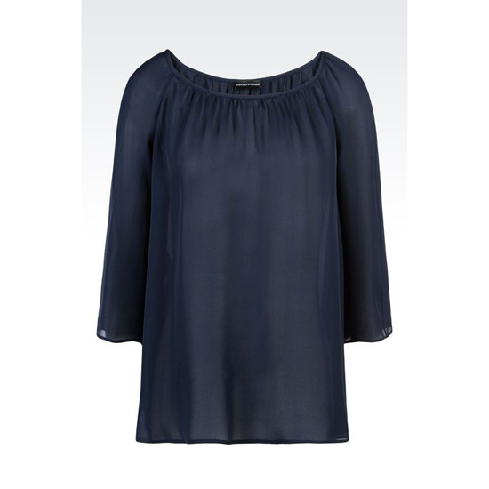 ARMANI BLOUSE IN SILK GEORGETTE Outlet Online