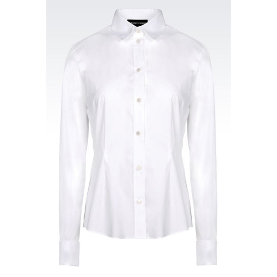 ARMANI CLASSIC SHIRT IN STRETCH POPLIN Outlet Online