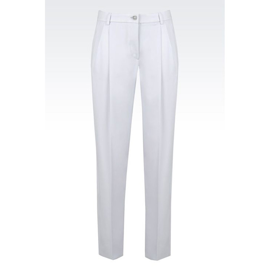 ARMANI TROUSERS IN STRETCH WOOL Outlet Online