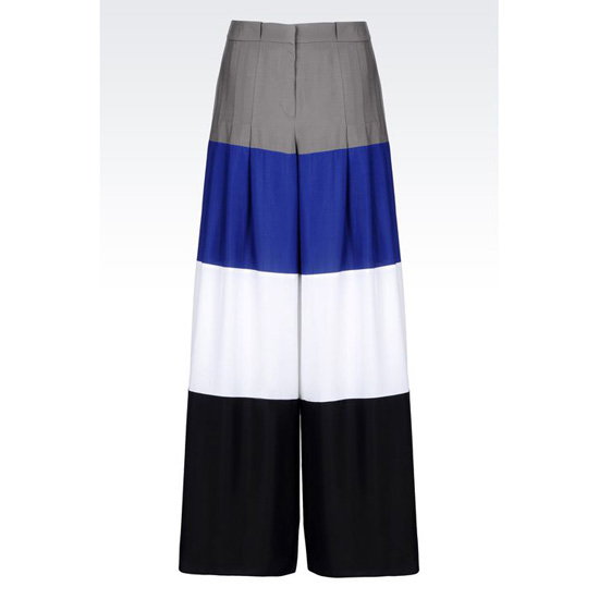 ARMANI RUNWAY PALAZZO PANTS IN STRIPED SILK Outlet Online