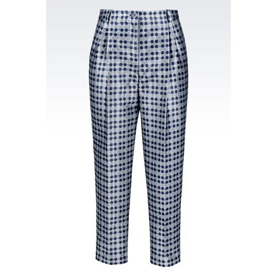 ARMANI ANKLE-LENGTH TROUSERS IN JACQUARD Outlet Online