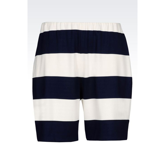 ARMANI RUNWAY BERMUDA SHORTS IN STRIPED MILANO JERSEY Outlet Online