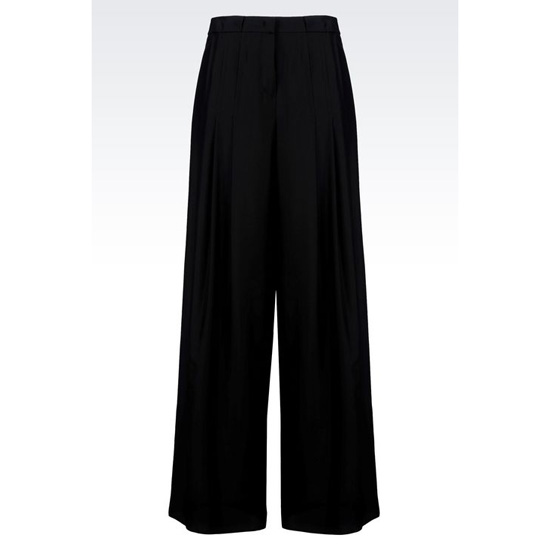 ARMANI PALAZZO PANTS IN SILK POPLIN Outlet Online