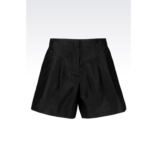 ARMANI SHORTS IN SILK TAFFETA Outlet Online