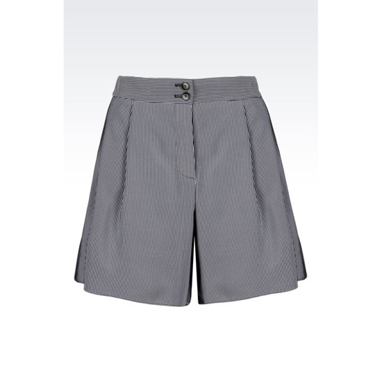 ARMANI LOOSE SHORTS IN MICRO STRIPED CADY Outlet Online