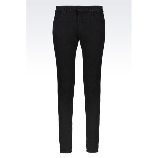 ARMANI SUPER SKINNY JEANS IN TWILL WITH ANKLE ZIPS Outlet Online