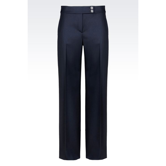 ARMANI PALAZZO PANTS IN STRETCH WOOL Outlet Online