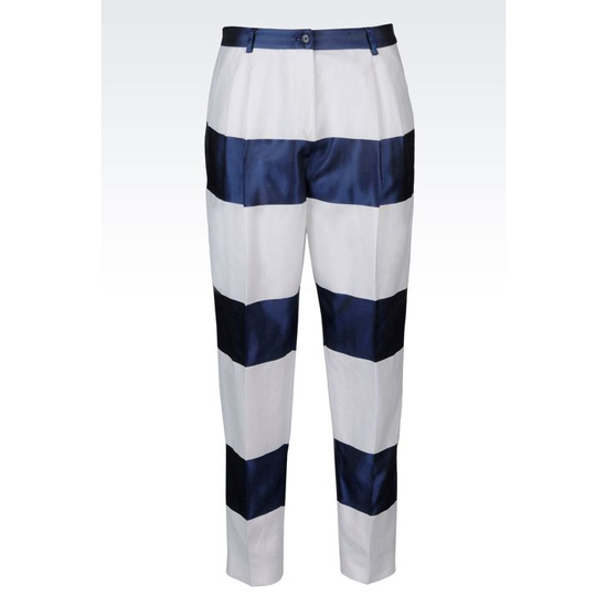 ARMANI RUNWAY TROUSERS IN STRIPED COTTON BLEND Outlet Online