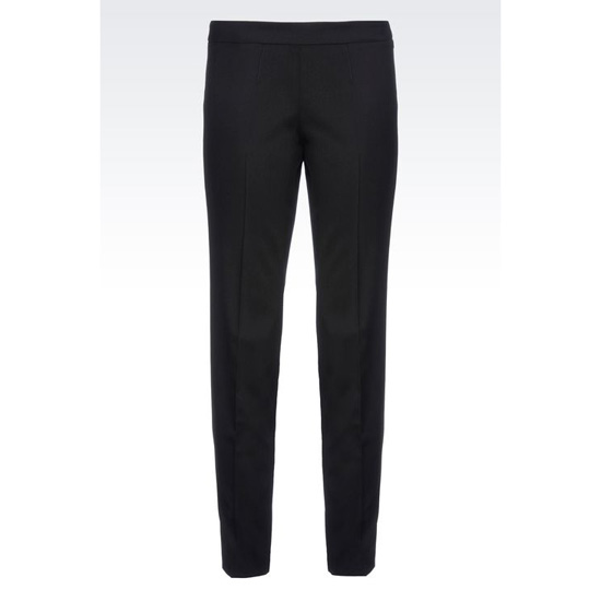 ARMANI CIGARETTE TROUSERS IN STRETCH WOOL Outlet Online