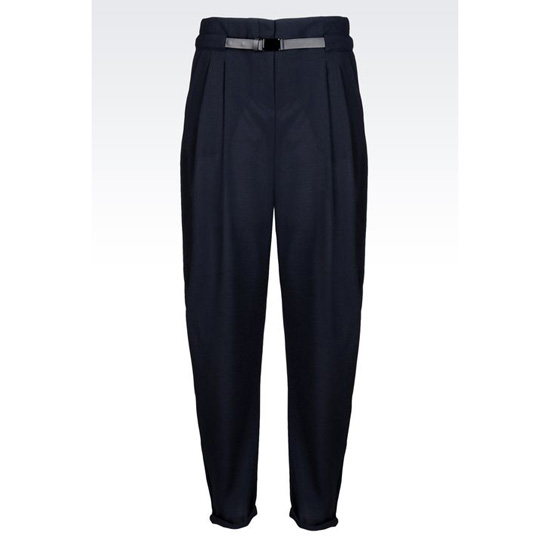 ARMANI TROUSERS IN WOOL CR脢PE Outlet Online