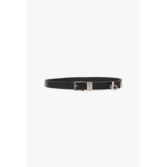 BALMAIN MEN LEATHER AND PERFORATED LEATHER BELT Outlet Online