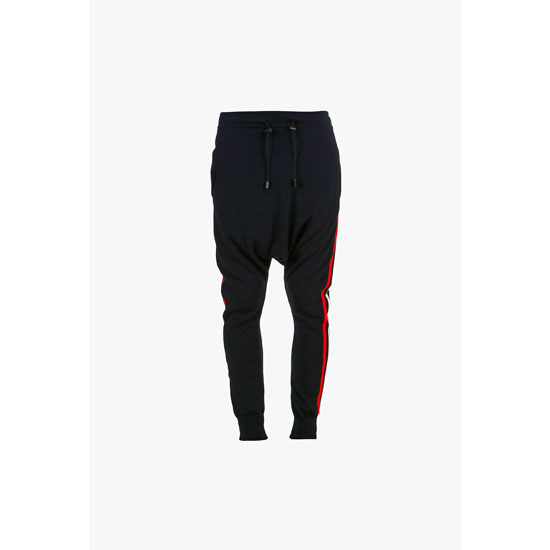 BALMAIN MEN SIDE BANDS COTTON HAREM PANTS Outlet Online